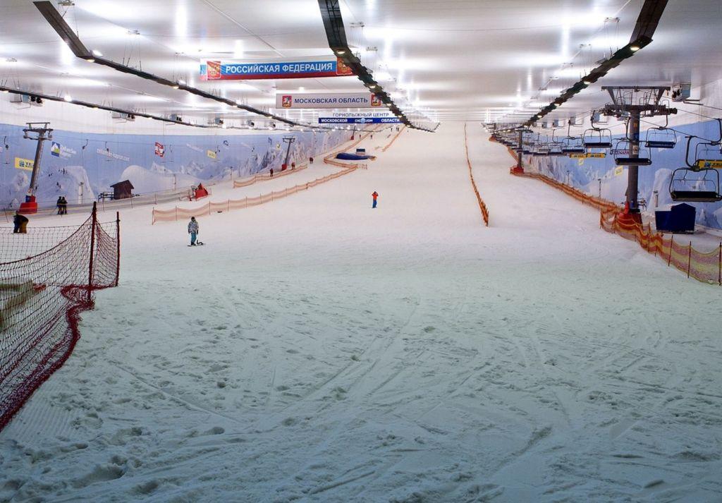 Помимо снежного ската имеется аква и фитнес-зона