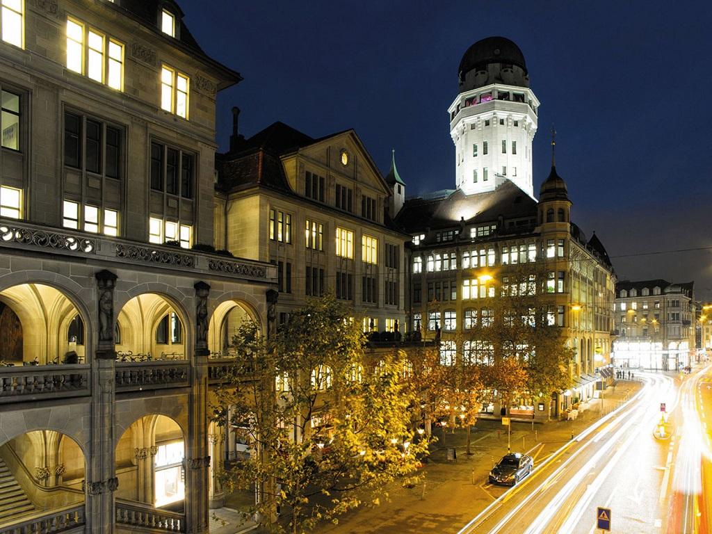 Вечером из обсерватории открывается красивый вид на город